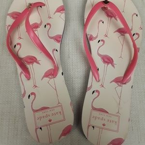 Flamingo Kate Spade Hot Pink Sandals 9 10 Boho